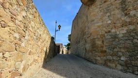 Μεσαιωνική γοτθική πέτρινη χαμηλή άποψη πόλης σταθερή εκκέντρων φιλμ μικρού μήκους