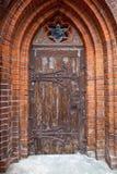 Μεσαιωνική γοτθική πόρτα Στοκ Φωτογραφία