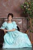 μεσαιωνική γυναίκα εποχής φορεμάτων Στοκ Εικόνες