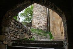 Μεσαιωνική είσοδος τούβλου Στοκ φωτογραφία με δικαίωμα ελεύθερης χρήσης