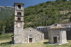 Μεσαιωνική εκκλησία σε Antrodoco Rieti, Ιταλία Στοκ εικόνες με δικαίωμα ελεύθερης χρήσης