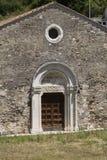 Μεσαιωνική εκκλησία σε Antrodoco Rieti, Ιταλία Στοκ φωτογραφία με δικαίωμα ελεύθερης χρήσης