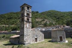 Μεσαιωνική εκκλησία σε Antrodoco Rieti, Ιταλία Στοκ Φωτογραφία