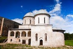 Μεσαιωνική εκκλησία ορθοδοξίας στο φρούριο Ivangorod Στοκ φωτογραφίες με δικαίωμα ελεύθερης χρήσης
