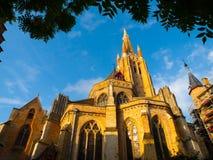 Μεσαιωνική εκκλησία της κυρίας μας στη Μπρυζ στοκ εικόνα με δικαίωμα ελεύθερης χρήσης
