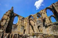 Μεσαιωνική καταστροφή του αβαείου του Μπόλτον, Μεγάλη Βρετανία Στοκ εικόνα με δικαίωμα ελεύθερης χρήσης
