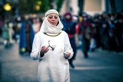 Μεσαιωνική κυρία σε υπαίθριο Στοκ εικόνα με δικαίωμα ελεύθερης χρήσης