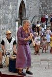 Μεσαιωνική μουσική οδών Στοκ εικόνες με δικαίωμα ελεύθερης χρήσης
