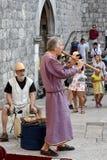 Μεσαιωνική μουσική οδών Στοκ Εικόνες