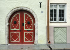 μεσαιωνική οδός Στοκ φωτογραφία με δικαίωμα ελεύθερης χρήσης