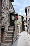 Μεσαιωνική οδός σε Assisi Στοκ φωτογραφίες με δικαίωμα ελεύθερης χρήσης