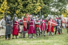 Μεσαιωνική πάλη ιπποτών Στοκ Φωτογραφίες