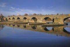 μεσαιωνική πέτρα γεφυρών Στοκ φωτογραφία με δικαίωμα ελεύθερης χρήσης