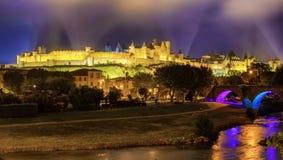 Μεσαιωνική παλαιά πόλη του Carcassonne, Languedoc, Γαλλία στοκ εικόνες