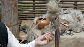 Μεσαιωνική περιστροφή χεριών απόθεμα βίντεο