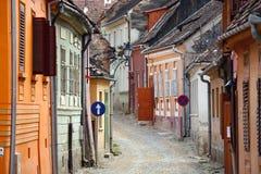 μεσαιωνική πόλη Στοκ Εικόνες
