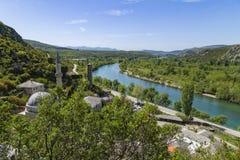 Μεσαιωνική πόλη Pocitelj, της Βοσνίας & της Ερζεγοβίνης Στοκ Φωτογραφία