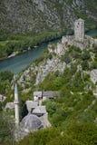 Μεσαιωνική πόλη Pocitelj, της Βοσνίας & της Ερζεγοβίνης Στοκ εικόνες με δικαίωμα ελεύθερης χρήσης