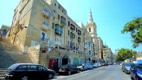 Μεσαιωνική πόλη Valletta, Μάλτα απόθεμα βίντεο