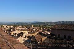 Μεσαιωνική πόλη Gubbio στην Ουμβρία στοκ φωτογραφία