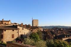 Μεσαιωνική πόλη Gubbio στην Ουμβρία Στοκ εικόνα με δικαίωμα ελεύθερης χρήσης