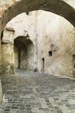 Μεσαιωνική πόλη Sighisoara, Ρουμανία οδός Στοκ φωτογραφία με δικαίωμα ελεύθερης χρήσης