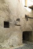 Μεσαιωνική πόλη Sighisoara, Ρουμανία Τοίχος Στοκ Εικόνα
