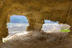 Μεσαιωνική πόλη tepe-Kermen, Κριμαία σπηλιών Στοκ Εικόνα