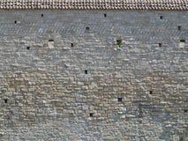 Μεσαιωνική σύσταση τοίχων με τη στέγη Στοκ φωτογραφίες με δικαίωμα ελεύθερης χρήσης