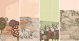 μεσαιωνική φύση εμβλημάτω&nu Στοκ εικόνα με δικαίωμα ελεύθερης χρήσης