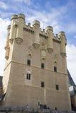 Μεσαιωνική, alcazar πόλη κάστρων Segovia, Ισπανία Παλαιά πόλη του ROM Στοκ Φωτογραφίες
