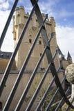 Μεσαιωνική, alcazar πόλη κάστρων Segovia, Ισπανία Παλαιά πόλη του ROM Στοκ Φωτογραφία