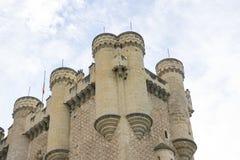 Μεσαιωνική, alcazar πόλη κάστρων Segovia, Ισπανία Παλαιά πόλη του ROM Στοκ φωτογραφία με δικαίωμα ελεύθερης χρήσης
