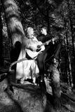 Μεσαιωνικοί άνδρας και γυναίκα Στοκ φωτογραφία με δικαίωμα ελεύθερης χρήσης