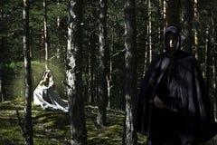 Μεσαιωνικοί άνδρας και γυναίκα Στοκ Φωτογραφίες