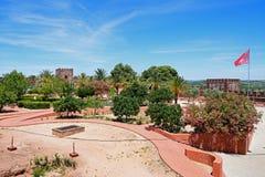 Μεσαιωνικοί κήποι κάστρων και προαυλίων, Silves, Πορτογαλία Στοκ Εικόνες