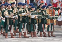 Μεσαιωνικοί μουσικοί Στοκ Φωτογραφίες