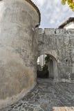 Μεσαιωνικοί πύργος και πύλη φρουρίων στο χωριό Smartno, Σλοβενία Στοκ Εικόνες