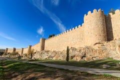 Μεσαιωνικοί τοίχοι Avila Στοκ φωτογραφία με δικαίωμα ελεύθερης χρήσης