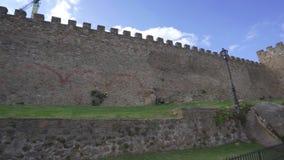 Μεσαιωνικοί τοίχοι Plasencia στην επαρχία Caceres, Ισπανία απόθεμα βίντεο