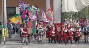 Μεσαιωνικοί φορείς σημαιών Στοκ Εικόνα