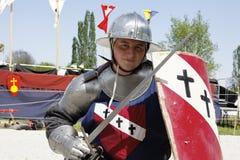 μεσαιωνικός ιπποτών μάχης χρησιμοποιούμενος Στοκ φωτογραφία με δικαίωμα ελεύθερης χρήσης