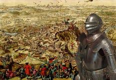 Μεσαιωνικός ιππότης στο τεθωρακισμένο Στοκ Εικόνες
