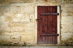 μεσαιωνικός ξύλινος πορτών της Κροατίας κάστρων στοκ εικόνα με δικαίωμα ελεύθερης χρήσης