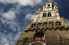Μεσαιωνικός πύργος καμπαναριών της Μπρυζ, Βέλγιο Στοκ εικόνες με δικαίωμα ελεύθερης χρήσης