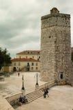 Μεσαιωνικός πύργος Πλατεία της Pet Bunara Zadar Κροατία στοκ φωτογραφίες με δικαίωμα ελεύθερης χρήσης