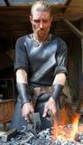 Μεσαιωνικός σιδηρουργός Στοκ Εικόνες