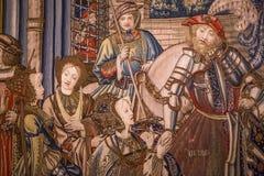 Μεσαιωνικός τάπητας στο κάστρο Ecouen, Ecouen, Γαλλία Στοκ φωτογραφία με δικαίωμα ελεύθερης χρήσης