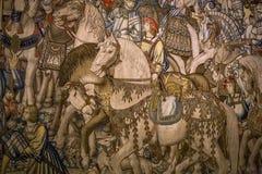 Μεσαιωνικός τάπητας στο κάστρο Ecouen, Ecouen, Γαλλία Στοκ Εικόνες