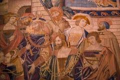 Μεσαιωνικός τάπητας στο κάστρο Ecouen, Ecouen, Γαλλία Στοκ Φωτογραφίες